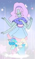 Aquamarine and Opalite Fuse! by Royal8Gold