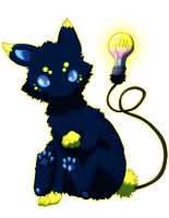Lightbulb Cat Watt by krokus00