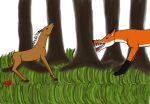 Orchid and the fox by purpleshadowbooster