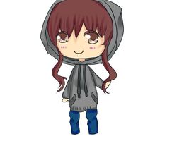Hooded Chibi by ShiroAgeha