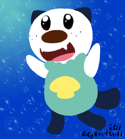 No Lines Oshawott by AgentWerehog