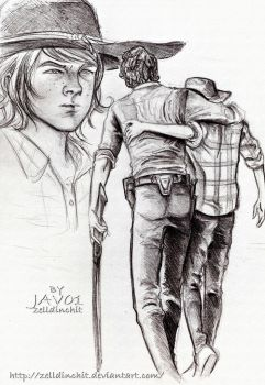 Rick and Carl TWD- season 4 (4x8) too far gone by zelldinchit