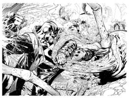 Grifter Midnighter 2-3 lineart by ryanbnjmn