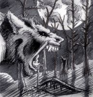 Werewolf Doodle by PaulSpatola