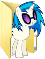 Custom Vinyl Scratch folder icon (glasses) by Blues27Xx
