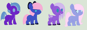 Tootsie and Shiver Foals- Two Left! by PyscoSnowflake