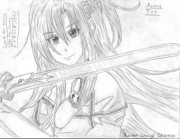 Drawing 38 (Manga) Asuna (Keven Soucy) by Kdor2684
