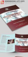 Remembering Lots Wife Church Bulletin Template by loswl