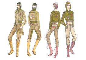 ARMY BABES 2-COLOR by FVAD