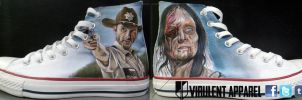 The Walking Dead shoes by VirulentApparel
