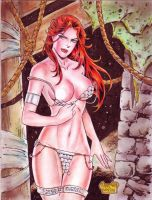 RED SONJA by RODEL MARTIN (12012016) by rodelsm21