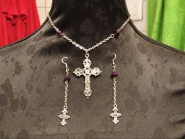 Purple Cross by TheLovelyBoutique