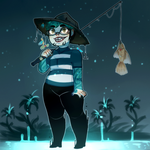 A Strange Fisherman Approaches [ Witchsona 2016 ] by VileBile