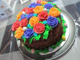 Easter Basket Cake by Leara