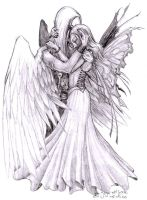 Fairy and her Guardian Angel by daisyamnell