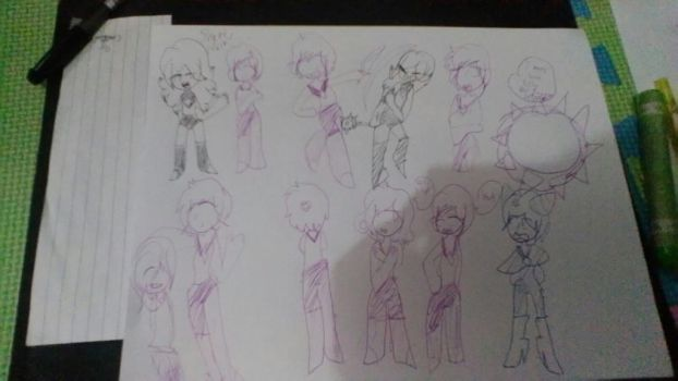 Short Cut Sketches by CoolGirl0429