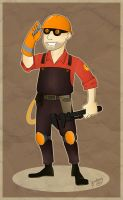 TF2 Engineer by Niza-Niabock