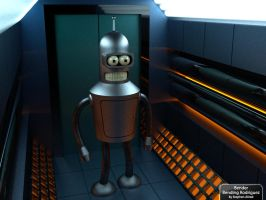 Bender Bending Rodriguez Envi by stephenallred