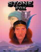 Stone Fox  book cover by GingerAnne