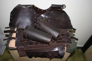 LARP Scale armour finished by Meow-chi