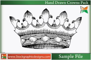 Hand Drawn Crowns-Vector by Stockgraphicdesigns