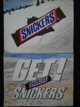 Japanese SNICKERS 1996 Ad 2-Pack by Namco-NintendoFan-88