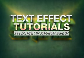 30 Best Text Effect Illustrator - Photoshop Tuts by Designslots