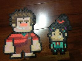 -Perler- Wreck-it Ralph Group~ by OtakuLuka