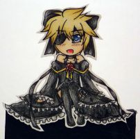 Len Paperchild (Imitation Black version) by TinyPaperStars