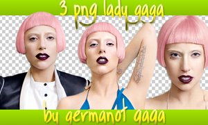 3 png Lady GaGa by germanot-gaga