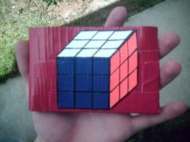 Rubiks Cube Wallet-Duct Tape- by dbgtrgr