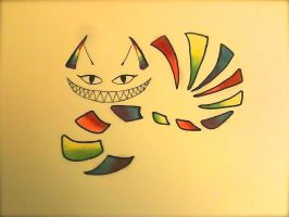 Rainbow Cheshire Tattoo by Morbid-Perhaps