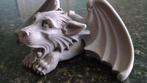 Gargoyle Business Card Holder 003 by CastShadowsStudio