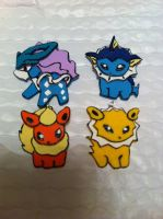 Clay Pokedoll Necklace Charms by sazmullium