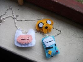 Adventure Time Necklace by Kermit365