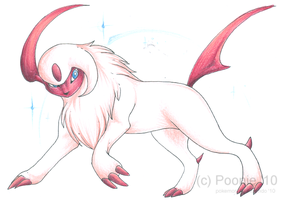 Bling Absol - Gift by PoonieFox