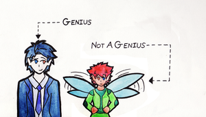 Genius ... Not Genius by Kida-Ookami