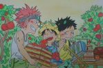Kid,Luffy, Law by makiyoshika