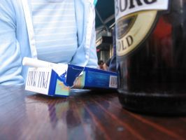 Beer and cigarette by Tequilaz0r