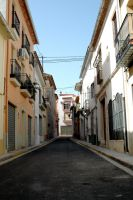 Empty Spanish village street by BlokkStox