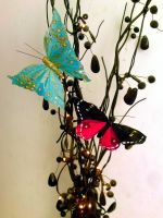 butterfly stock/branch stock by L-A-Addams-Art