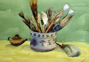 Chinese Brushes by cchan55