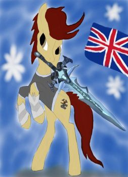 Try Make Armored Pony Hold Frostmourne by daylover1313