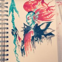 Undyne the undying  by kennaknight6