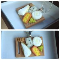 Cheese Platter Pendant by heather-blacklock