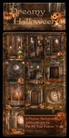 Dreamy Halloween backgrounds by moonchild-ljilja