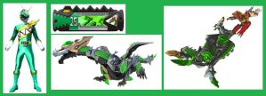 Dino Charge Dragon Ranger for EmiChannel by Greencosmos80
