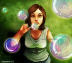 A bubble for your thoughts by Aleccha