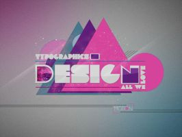 Typo Design by Lhenalee