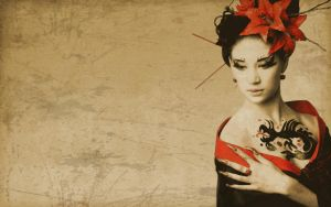 Vintage Geisha by hourglassthorne